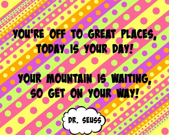 Dr Seuss Oh The Places You Ll Go Quotes Unique Dr Seuss Oh The Places You'll Go Quote Digital Poster Etsy