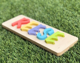 ALL CAPS - Personalized Name Puzzle - up to 9 letters