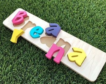 Upper + Lowercase Toddler Name Puzzle - up to 9 letters