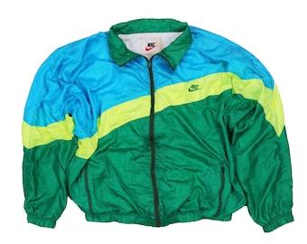 Vintage des années 80 90 s veste coupe-vent Nike multicolore Color Block ba18a6cdceba