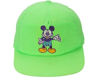 Vintage 80s mickey mouse Cap Hat Snapback Made in USA c268c642ec6f