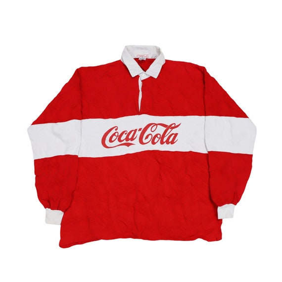 Vintage Coca Cola Striped Rugby Shirt