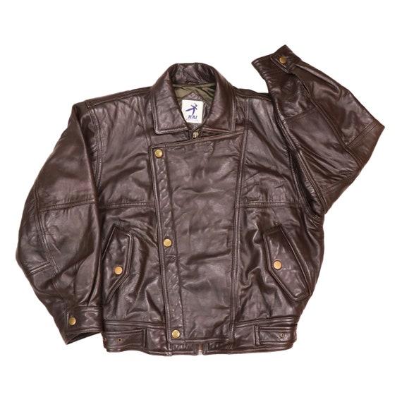 Issey Miyake Hai Sporting Gear Leather Bomber Jack