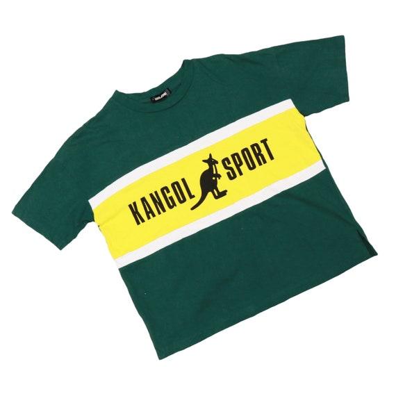 Kangol crop t shirt / vintage 90s crop tops
