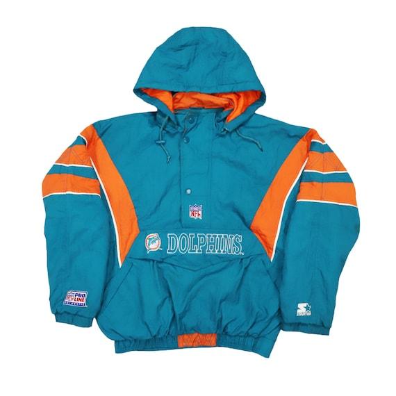 Vintage 90s Starter Jacket Miami Dolphins NFL Team