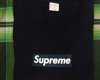 ca4332de9066 Supreme OG Box Logo Navy on Navy 1999