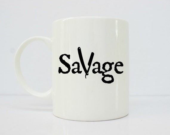 Savage barber mug - barber gifts - barber gift - savage - nail gifts - switchblade - switch blade