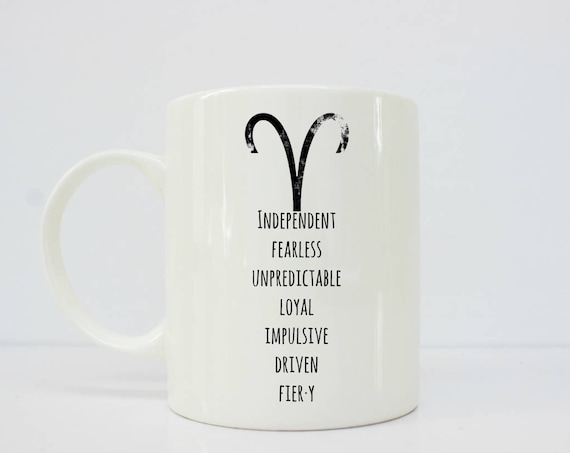 Aries mug - Aries - Horoscope mug - Aries - Aries Coffee Mug - Aries Star Sign Gift - Zodiac Gift - Astrology