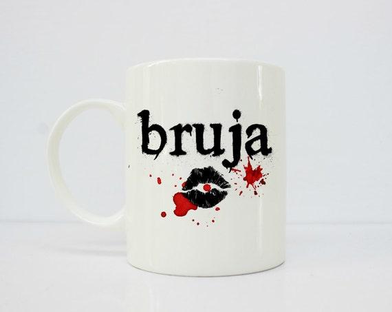 Bruja mug, halloween mug - witch mug - latina art - latina - dia de los muertos- latinx -wiccan mug