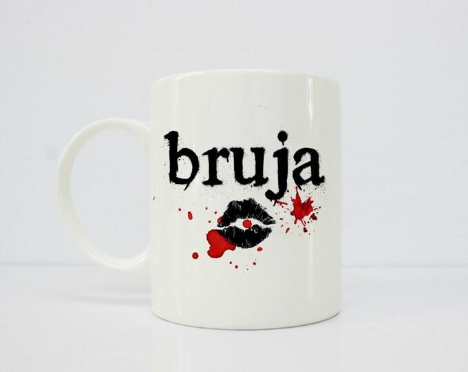 Bruja mug, halloween mug - witch mug - latina art - latina - dia de los muertos