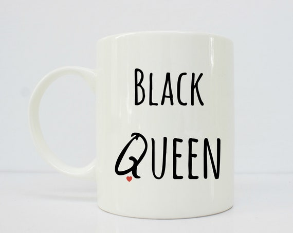 Black Queen mug - melanin mugs - Black - latina - latinx-  girlfriend gift -afrolatina - coffee mug - gift for her - boss babe - boss gift