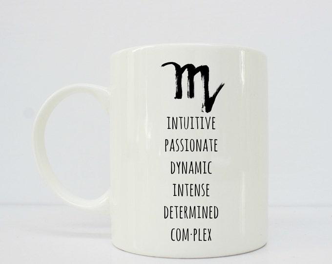 Scorpio mug -Scorpio - Horoscope mug - Scorpio Coffee Mug - Scorpios Star Sign Gift - Zodiac Gift - Astrology