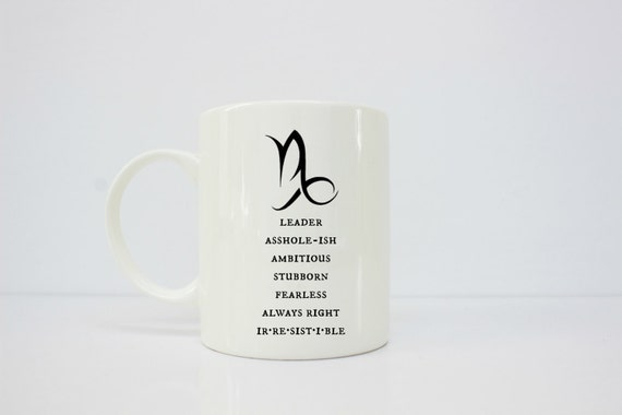 Capricorn mug - capricornia - horoscope - horoscope mug - astrology - astrology gift - astrology mug