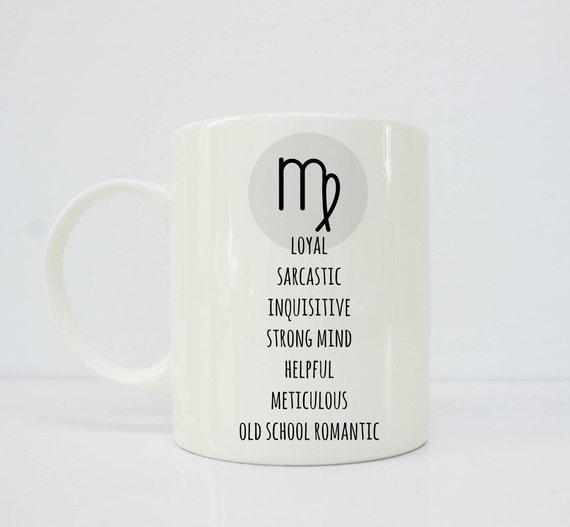 Virgo mug - Virgo - horoscope - astrology - virgo star sign - virgo gift - virgo birthday gift - petty -funny mug