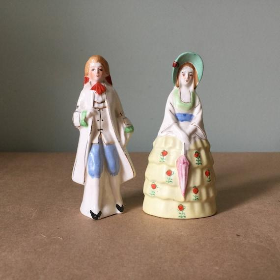 Colonial géorgien Figurine salière et poivrière