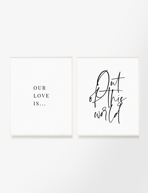 Our Love Is Out Of This World Set Of 2 Printable Wall Art Etsy