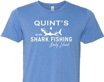 Mâchoires Robert Shaw/'s Quint Citation T Shirt Shark Film Buff