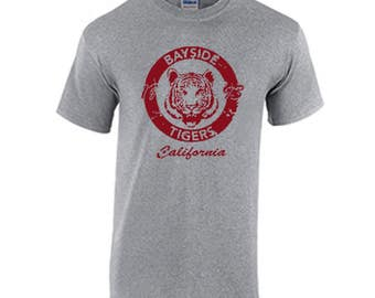 332bb6b265e Bayside Tigers High School Tee Shirt Fans saved by the bell the college  years the new class Zack Morris Screech Lisa Turtle A.C. Slater