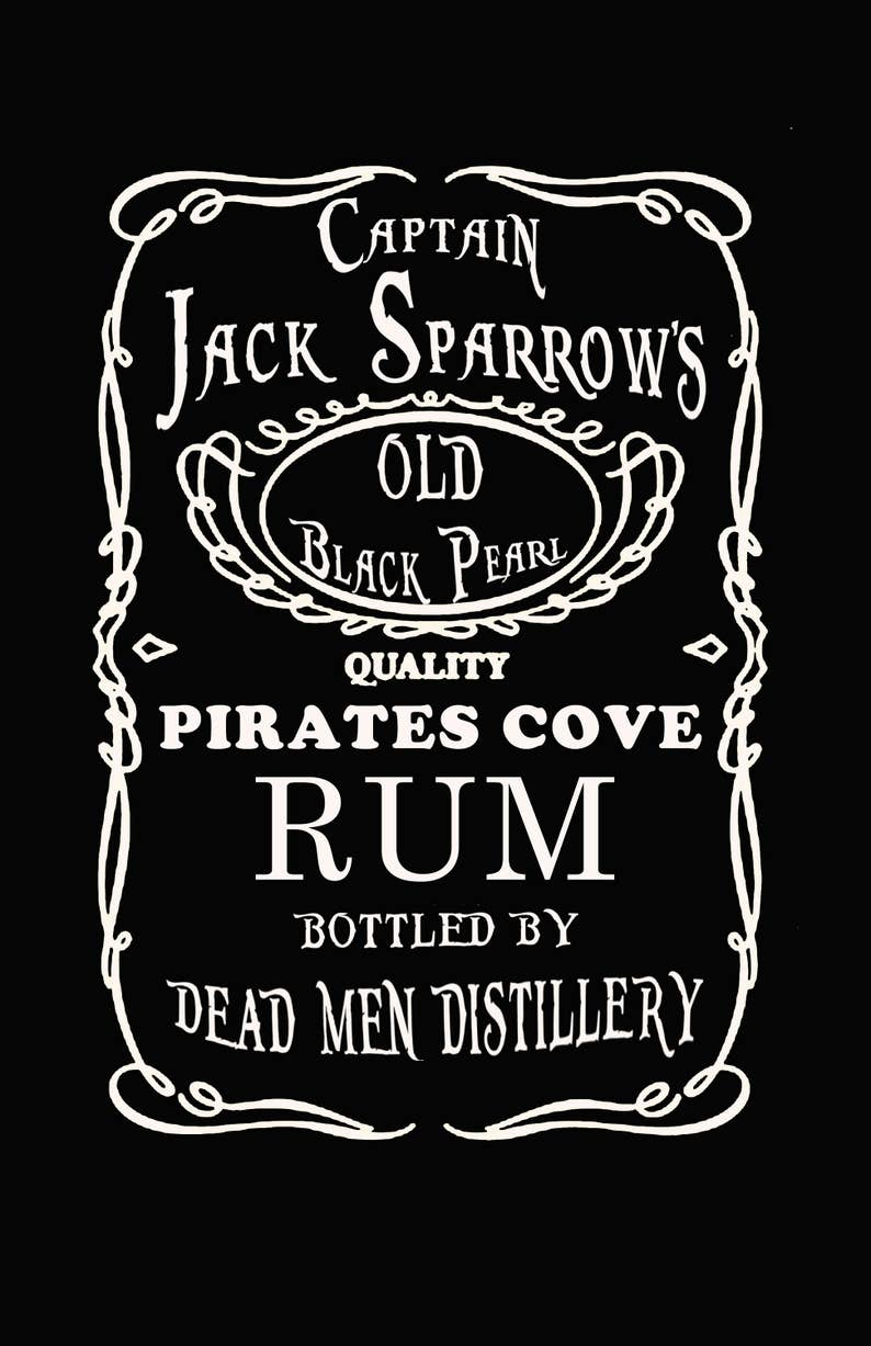 9582c239 Captain Jack Sparrow's Old Black Pearl Pirate Cove Rum tee   Etsy