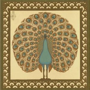 Art Nouveau Walter Crane Swan Bird Love Heart Bullrush Iris design large 28cm or 11.25 round placemat table mat server setting centrepiece