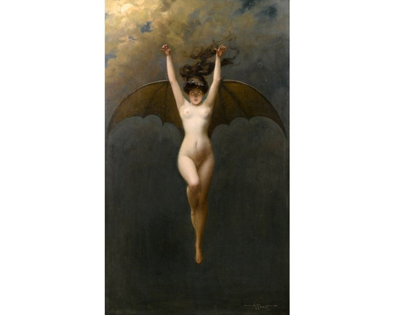Image result for The Bat Woman painting