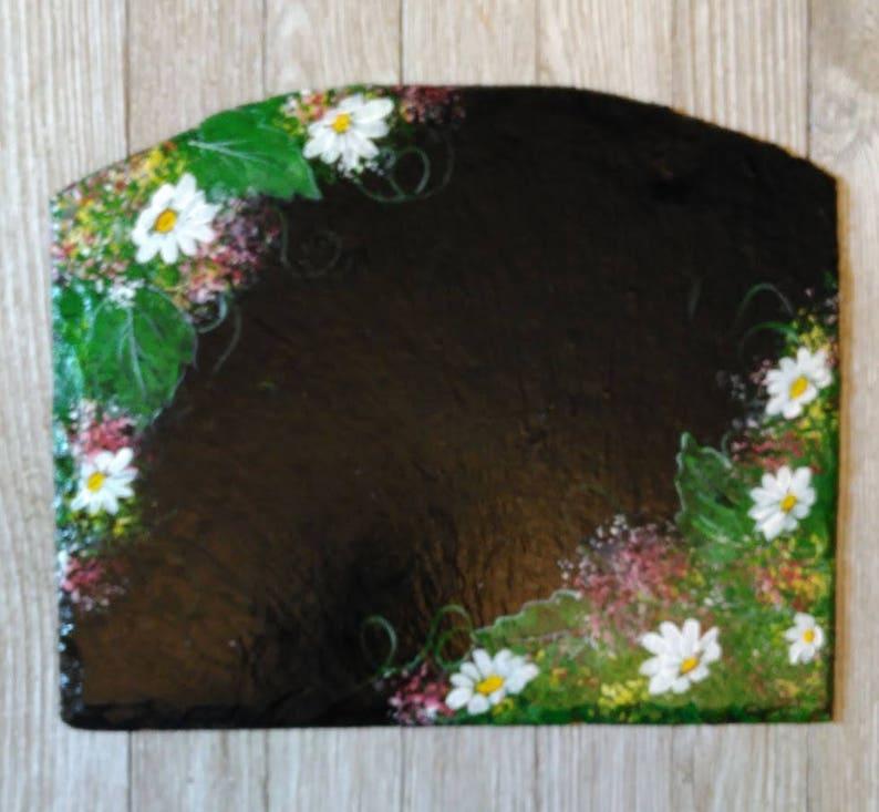 rack sold separately Hand Painted Summer Daisy Large Slate Slider