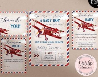 In-Flight Menu Old Map Destination Wedding Precious Cargo Baby Bridal Shower DIGITAL Vintage Travel Airplane Menu Card Aviation