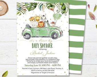 Jungle Baby Shower Mail Safari Online Baby Shower Boy Baby Shower Celebration Party Invite Girl  CEP048 Virtual Baby Shower Invitation