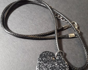 Silver Stardust Guitar Pick Necklace