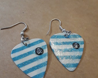 Pirate Guitar Pick Earrings