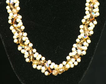 Pearl and crystal spiral