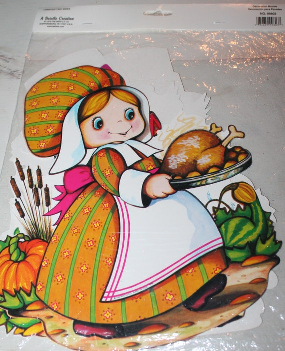 Vintage Beistle Die Cut Thanksgiving Decorations Of Pilgrims And Indians