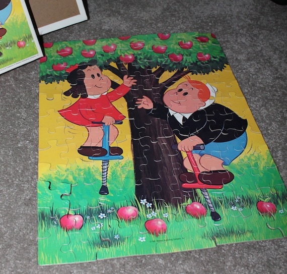 Gift for Children or Teachers Little Lulu and Thomas Tubby Tompkins 100 Piece Vintage Jigsaw Puzzle by Whitman