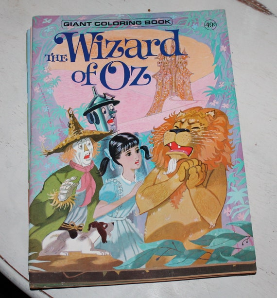 The Wizard of Oz Vintage Giant Coloring Book