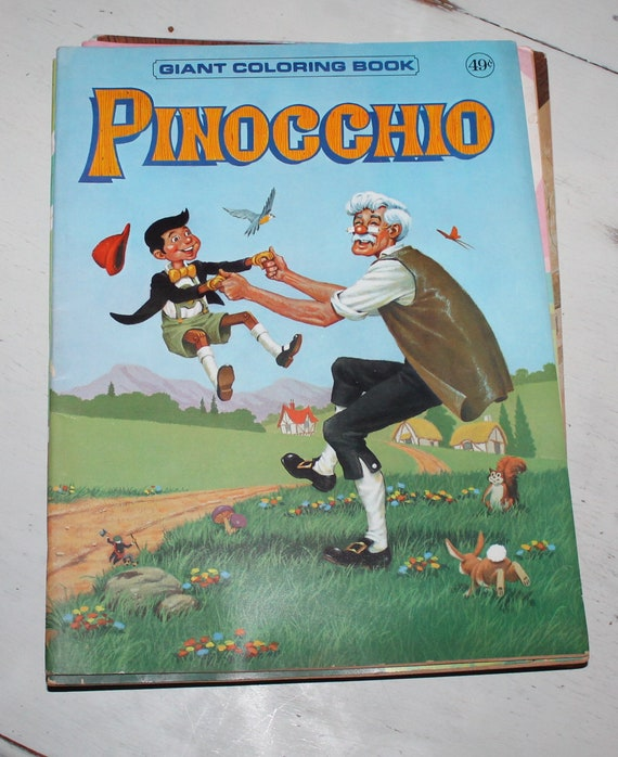 Vintage Pinocchio Giant Coloring Book