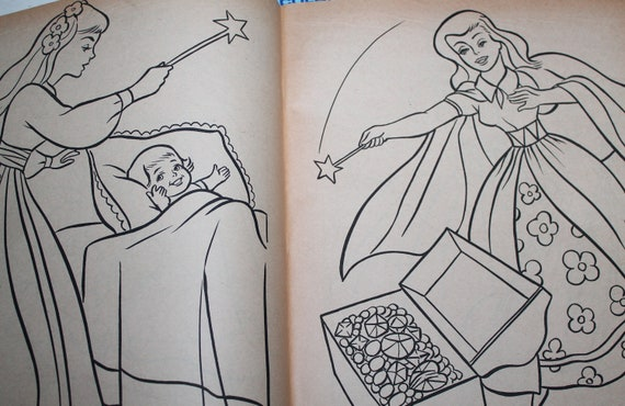 The Sleeping Beauty Vintage Giant Coloring Book