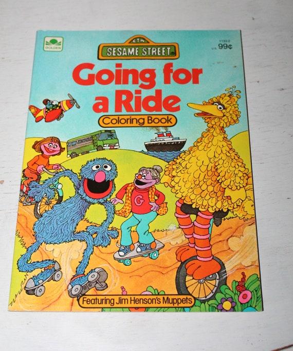 Vintage Unused Sesame Street Big Bird Coloring Book Etsy