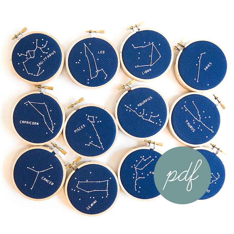 35b98902b ALL Zodiac Constellation Modern Cross Stitch Patterns PDFs   Etsy