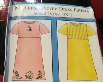Martha's Favorite Dress Pattern xs to 3xl