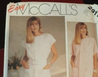 McCalls Dress Pattern #2911 size 16-18-20