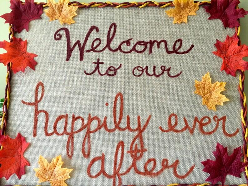 Custom Wedding Welcome Sign image 0