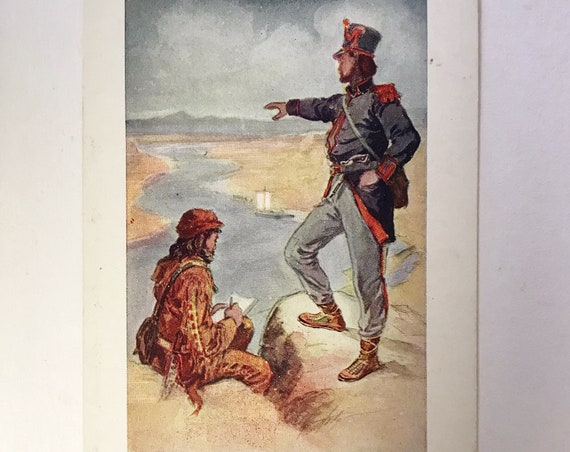 Antique Postcard - Lewis and Clark on the Mighty Columbia - 1905 Lipman, Wolfe & Co., Portland, Oregon