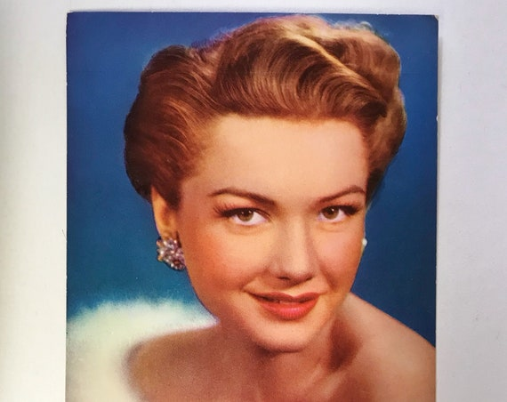 Vintage Postcard - Anne Baxter Movie Candid Color Card - Frank Powolny