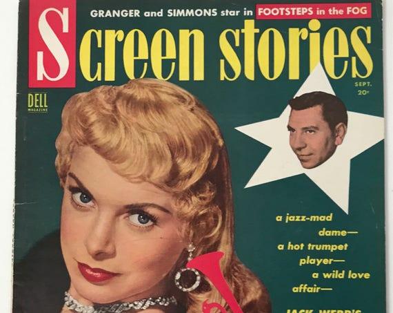 Screen Stories Magazine September 1955 - Cover Janet Leigh - Vintage Movie Magazine - Inside Humphrey Bogart, John Wayne, Joan Crawford