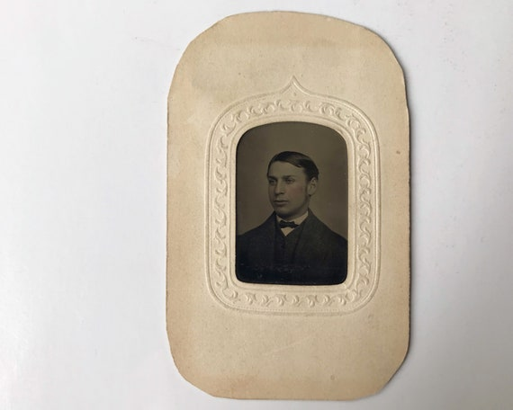 Antique Tintype Photograph of Victorian Man from New York
