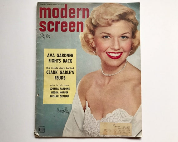 Modern Screen Magazine May 1952 - Cover Doris Day, Inside Ava Gardner, Clark Gable, Jerry Lewis, Bing Crosby and Ingrid Bergman