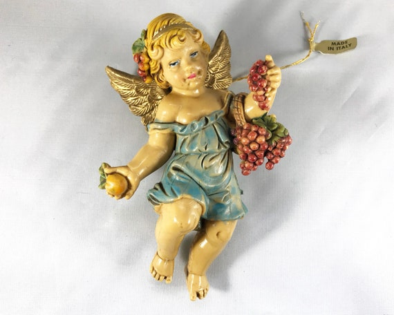 Vintage Made in Italy Angel or Cherub Decoration - Christmas Decor - Wall Decoration