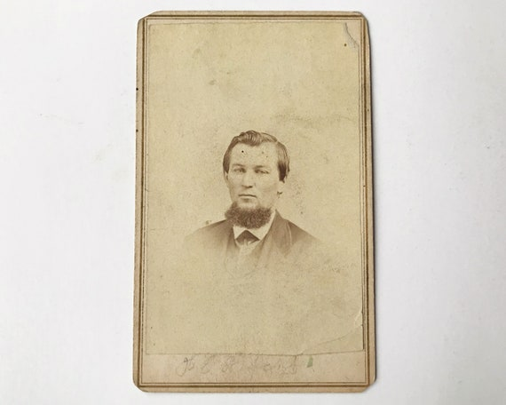 Antique Carte de Visite CDV Photograph of Victorian Man with Chin Whiskers