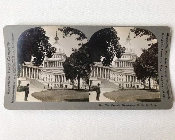 Keystone View Company Antique Stereoview 224 - The Capitol, Washington, D. C., U.S.A.