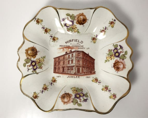 Mirfield Industrial Co-operative Society Jubilee Commemorative Plate - 1871 to 1921 - British Anchor Pottery